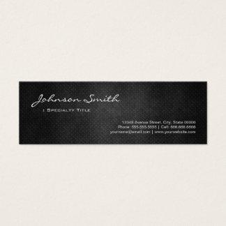 Cartão De Visitas Mini Aço preto do ferro do metal - olhar legal da