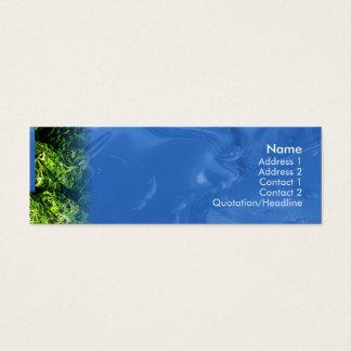 Cartão De Visitas Mini Água e grama - magros
