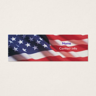 Cartão De Visitas Mini Americana
