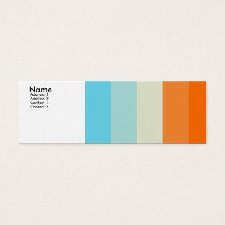 Cartão De Visitas Mini Amor da cor - personalizado