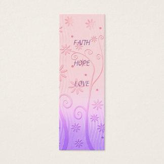 Cartão De Visitas Mini Amor da esperança da fé - marcador
