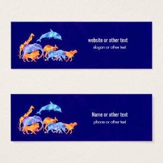 Cartão De Visitas Mini Animais selvagens que funcionam junto a aguarela