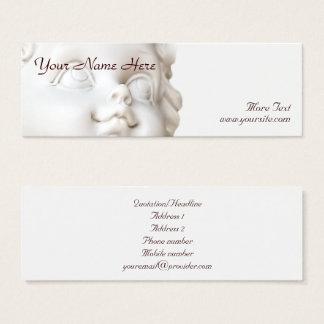 Cartão De Visitas Mini Anjo branco