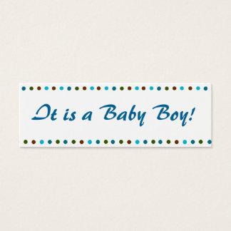 Cartão De Visitas Mini Anúncio do nascimento do bebé
