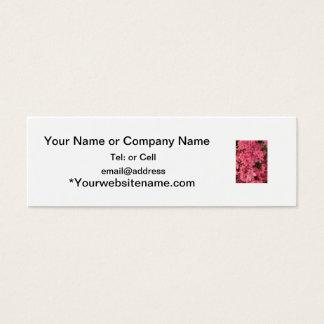 Cartão De Visitas Mini Arbusto de florescência cor-de-rosa brilhante