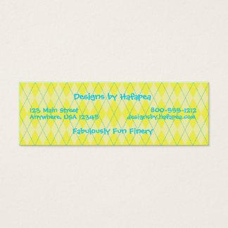 Cartão De Visitas Mini Argyle amarelo