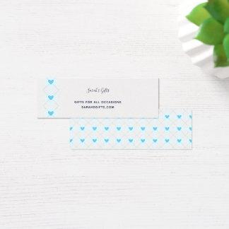 Cartão De Visitas Mini Argyle bonito