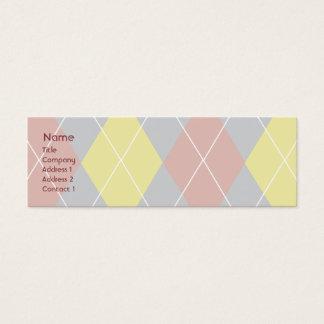 Cartão De Visitas Mini Argyle - magro