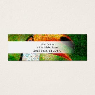 Cartão De Visitas Mini Arte da colagem-toucan de Toucan - arte da colagem