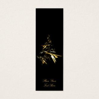 Cartão De Visitas Mini Árvore de Natal no preto 001 - marcador