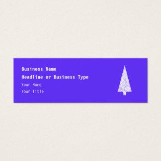 Cartão De Visitas Mini Árvore do White Christmas. No azul - roxo
