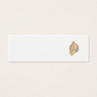Cartão De Visitas Mini Athena com a coruja no círculo mono Li do circuito