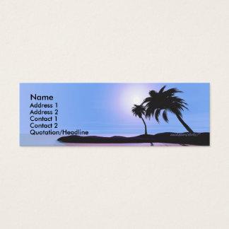 Cartão De Visitas Mini Azul da ilha - magro