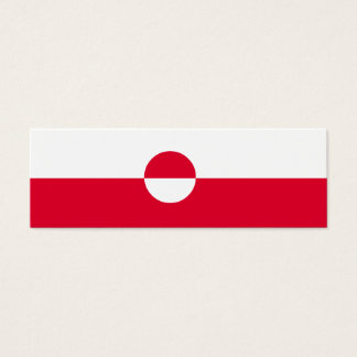 Cartão De Visitas Mini Bandeira de Greenland