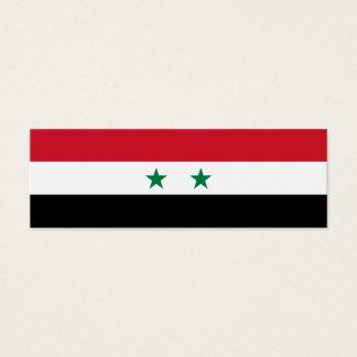Cartão De Visitas Mini Bandeira de Syria