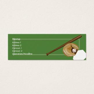 Cartão De Visitas Mini Basebol - magro