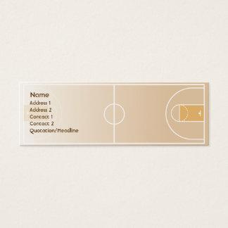 Cartão De Visitas Mini Basquetebol - magro