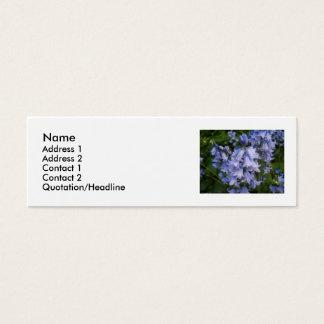Cartão De Visitas Mini Bluebells