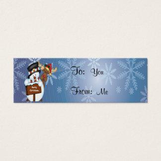 Cartão De Visitas Mini Boneco de neve e rena