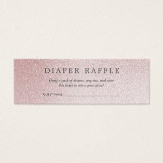 Cartão De Visitas Mini Brilho do rosa do Raffle | Ombre da fralda do chá