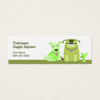 Cartão De Visitas Mini Cães do verde da guarda do cachorrinho