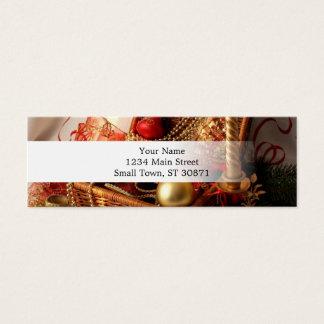 Cartão De Visitas Mini Caixa de Natal - decorações do Natal