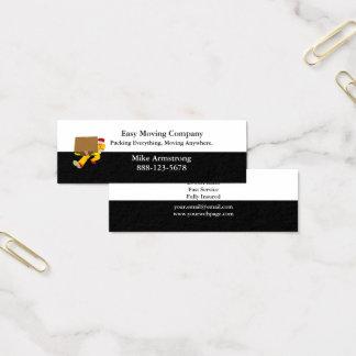 Cartão De Visitas Mini Caixa do motor da empresa de mudanças