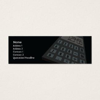 Cartão De Visitas Mini Calculadora - magro