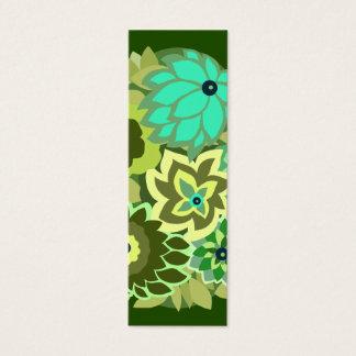 Cartão De Visitas Mini CAMBRIA nas máscaras do verde