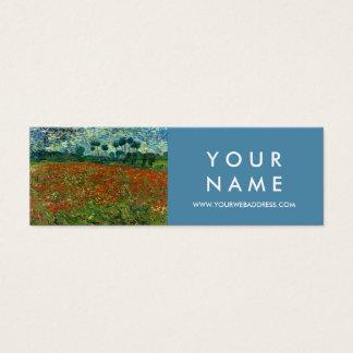 Cartão De Visitas Mini Campo com as papoilas pelas belas artes de Van