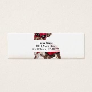 Cartão De Visitas Mini Cão do libre de Lucha, chihuahua engraçada,