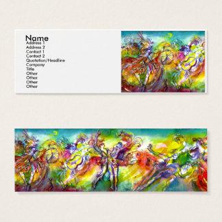 Cartão De Visitas Mini CARNAVAL ITALIANO /Dance, música, artista do