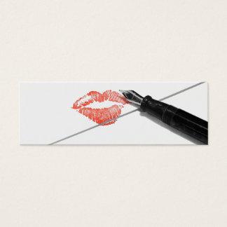 Cartão De Visitas Mini Carta de amor
