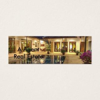 Cartão De Visitas Mini Casa de campo com piscina