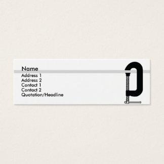 Cartão De Visitas Mini CClamp - magro