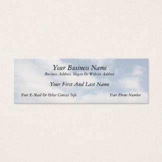 Cartão De Visitas Mini Céu calmo com nuvens
