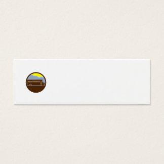 Cartão De Visitas Mini Círculo das montanhas do vintage do auto escolar