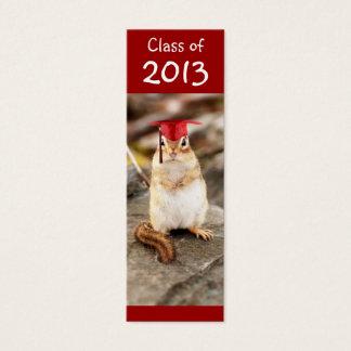 Cartão De Visitas Mini Classe de 2013 marcador de graduação do Chipmunk