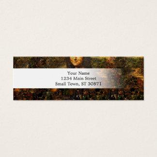 Cartão De Visitas Mini colagem de Mona lisa - mosaico de Mona lisa - Mona