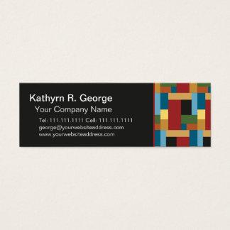 Cartão De Visitas Mini Colorido elegante geométrico da tendência retro