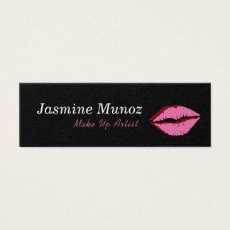 Cartão De Visitas Mini Compo o beijo do batom do artista