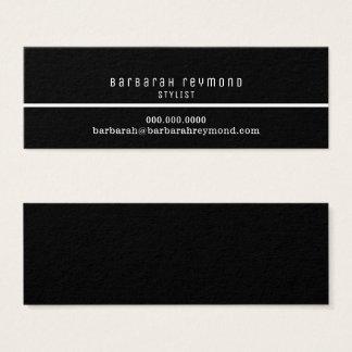 Cartão De Visitas Mini contato elegante mínimo da introdução do estilista