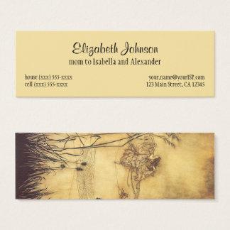 Cartão De Visitas Mini Conto de fadas do vintage, o Tightrope da fada por
