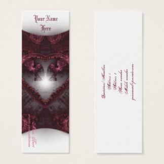 Cartão De Visitas Mini Coração gótico roxo 001
