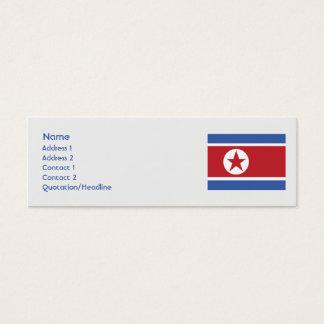 Cartão De Visitas Mini Coreia do Norte - magro