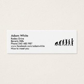 Cartão De Visitas Mini Cozinheiro chefe do cozinheiro da evolução