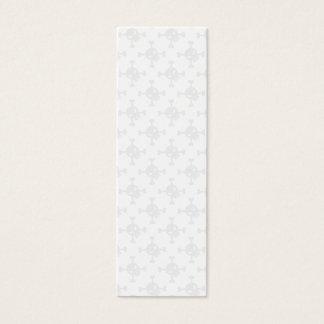 Cartão De Visitas Mini Crânio & marcador de Crossbone