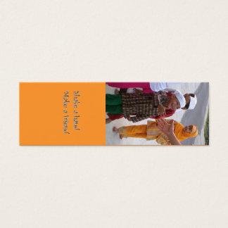 Cartão De Visitas Mini Crianças de Pangkalanbun Indonésia da amizade do