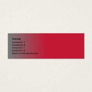Cartão De Visitas Mini Cromo vermelho magro