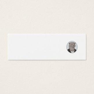 Cartão De Visitas Mini Da camisa principal do blazer da lontra desenho
